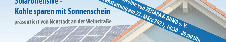 Virtuelle Veranstaltung der Stadt Neustadt: Solaroffensive 2021
